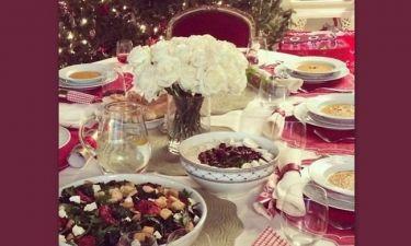 Το ξεχωριστό χριστουγεννιάτικο τραπέζι της…