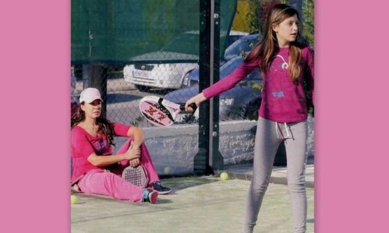 Βάνα Μπάρμπα: Για τένις με την κόρη της!