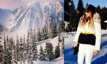 Νέα στιγμιότυπα από τις Χριστουγεννιάτικες διακοπές της Ελένης Πετρουλάκη σε χειμερινό θέρετρο στη Σερβία!