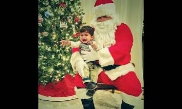 Ο γιος πασίγνωστης σελέμπριτι φοβάται τον Άγιο Βασίλη! (εικόνες)