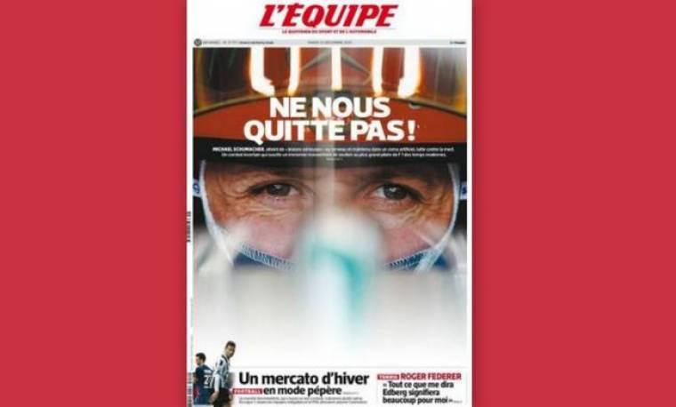 Το συγκινητικό πρωτοσέλιδο της Equipe για τον Σουμάχερ: «Μην μας εγκαταλείπεις»