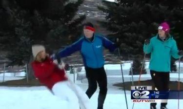Απίστευτο: Ρεπόρτερ λιποθύμησε οn air από το κρύο!