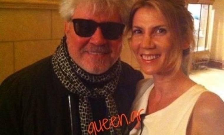 Όταν συνάντησε τον Pedro Almodovar .. (Αποκλειστικά από τη majenco στο queen.gr)