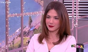 Η πρώτη τηλεοπτική εμφάνιση της Λασκαράκη μετά τη γέννηση της κορούλας της