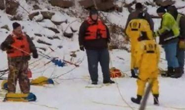 Τραγικό τέλος για οδηγό: Βυθίστηκε σε παγωμένο ποτάμι (Video)