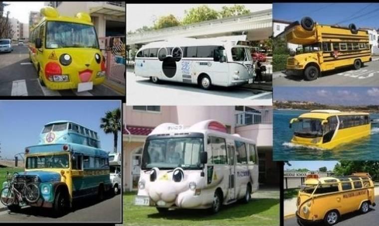 Τα πιο παράξενα σχολικά λεωφορεία του κόσμου! (φωτογραφίες)