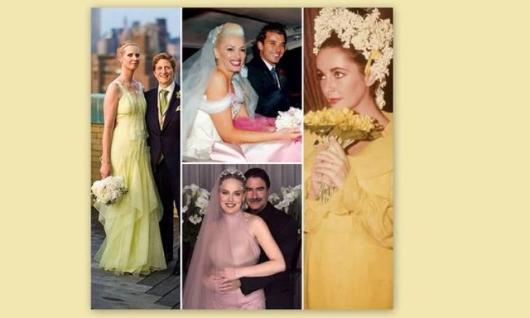 «I do» με πολύ χρώμα! 11 διάσημες νύφες που δεν φόρεσαν λευκό νυφικό