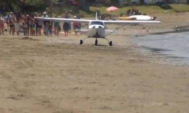 Μικρό αεροσκάφος... μεγάλη γκάφα (βίντεο)