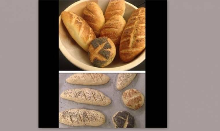 Φτιάχνει ψωμάκια με τα δυο χεράκια (φωτό)