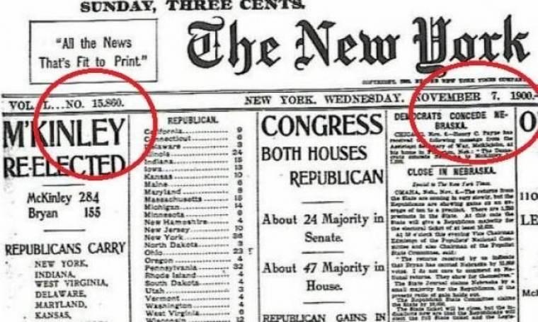 Πασίγνωστη εφημερίδα έκανε λάθος στο εξώφυλλό της εδώ και έναν αιώνα