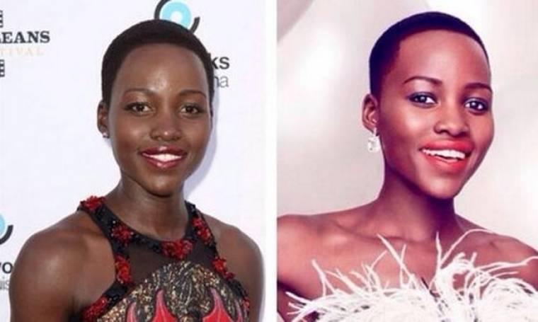 Χαμός στο διαδίκτυο! Το Vanity Fair «άσπρισε» την υποψήφια των φετινών Όσκαρ, Lupita Nyong'o