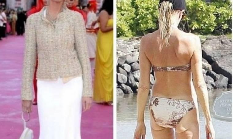 Με ρούχα και… χωρίς: Δείτε το γερασμένο σώμα της star (φωτός)