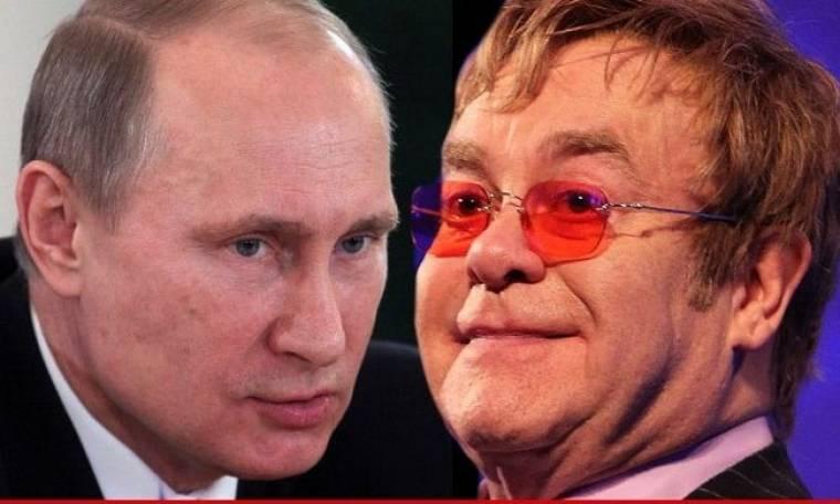 Vladimir Putin: «Η Ρωσία αγαπάει τον Elton John έστω και αν είναι gay»