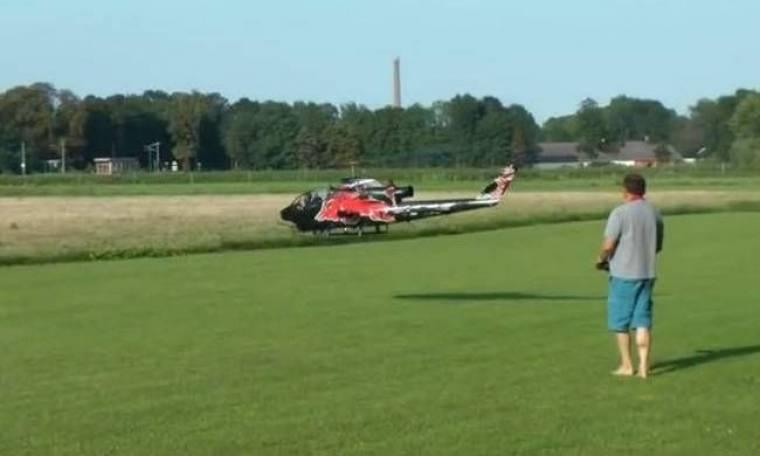 Tο μεγαλύτερο τηλεκατευθυνόμενο ελικόπτερο του κόσμου! (βίντεο)