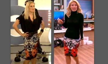 Ελεονώρα Μελέτη VS Ελένη Μενεγάκη: Φόρεσαν την ίδια φούστα. Ποια σας άρεσε περισσότερο;