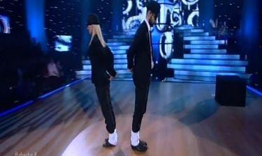 Ο Μιχάλης Μουρούτσος a la Michael Jakcson στον τελικό του «Dancing with the stars 4»