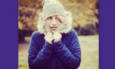 Η Μαρία Ηλιάκη αψήφησε το κρύο και έκανε βόλτα στην εξοχή!