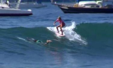 Τα μεγάλα κύματα δε τρομάζουν την φανταστική 10χρονη σέρφερ (βίντεο)
