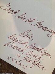 Το τρυφερό σημείωμα του David Beckham και των παιδιών του στη Victoria!