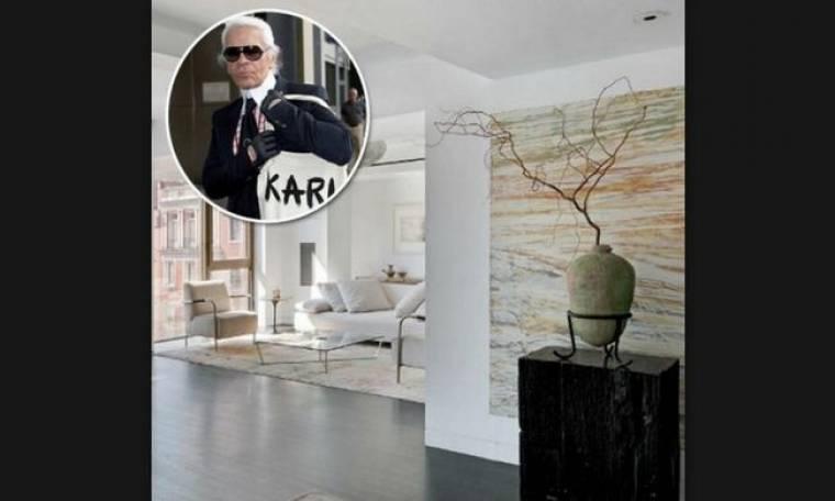 Στο minimal σπίτι του Karl Lagerfeld στη Νέα Υόρκη