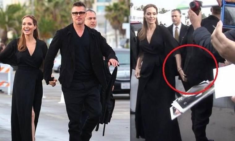 Η κομψή εμφάνιση της Jolie και η… άσεμνη χειρονομία μπροστά στις κάμερες, μία ανάσα από τα Όσκαρ