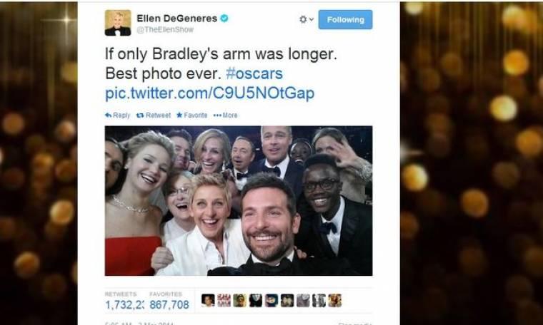 Όσκαρ 2014: Ρεκόρ σε retweets για τη selfie της Elen DeGeneres