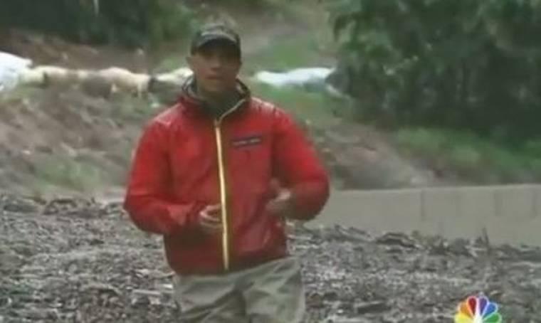 Απολαυστικό βίντεο: Ρεπόρτερ κόλλησε οn air στη λάσπη
