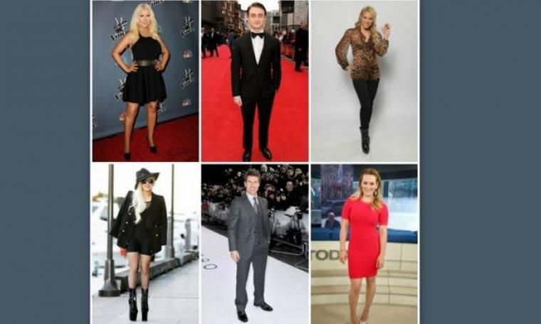 Οι κοντοί του Hollywood: Τι ύψος έχουν μερικοί από τους πιο διάσημους αστέρες;