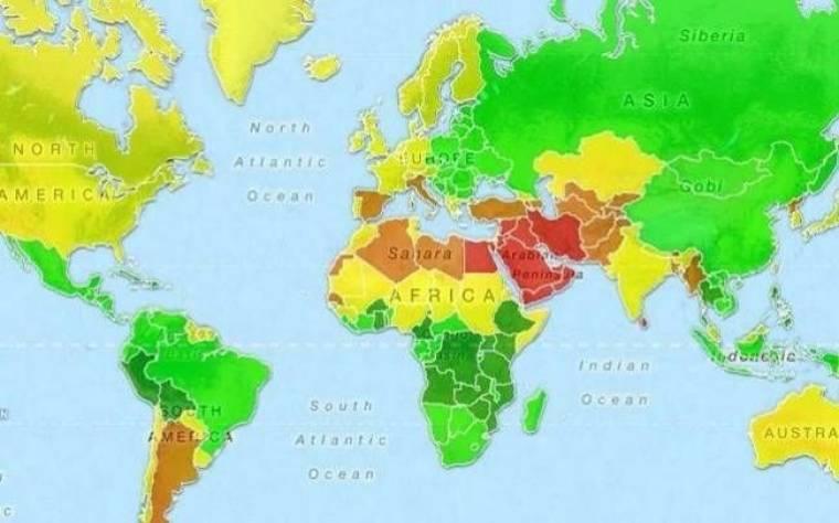 Δείτε πού βρίσκονται οι πιο «εύκολες» γυναίκες του πλανήτη (ΧΑΡΤΗΣ)