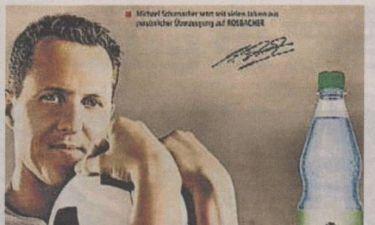 Σάλος με την αφίσα του Σουμάχερ: Διαφημίζει εμφιαλωμένο νερό!