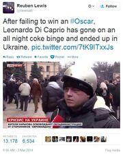 Leonardo DiCaprio: Από τα όσκαρ στην Ουκρανία!