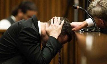 Λύγισε ο Πιστόριους - Ξέσπασε σε λυγμούς στο δικαστήριο (video)