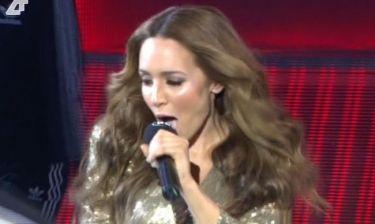 Eurovision 2014: Η Καλομοίρα εμφανίστηκε με sexy χρυσή τουαλέτα