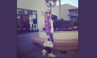 Μαριέττα Χρουσαλά: Σαββατιάτικη βόλτα στα μαγαζιά
