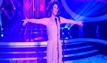 Σοφία Βόσσου: Η εμφάνισή της ως Shirley Bassey