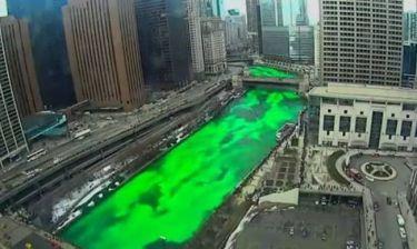 Time - lapse: Γιατί πρασίνισε ο ποταμός στο Σικάγο;