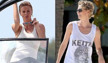 Charlize Theron:  Η πιο hot μαμά -Δείτε την με μαγιό στην παραλία, πιο σέξι από ποτέ!