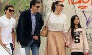 Στεφανίδου-Ευαγγελάτος: Η οικογενειακή τους βόλτα