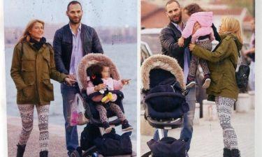 Κουτσοσταμάτη-Εμμανουηλίδης: Βόλτα με την μοναχοκόρη τους