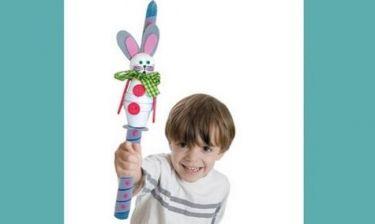 Φτιάχνουμε χειροποίητη λαμπάδα λαγουδάκι για παιδιά