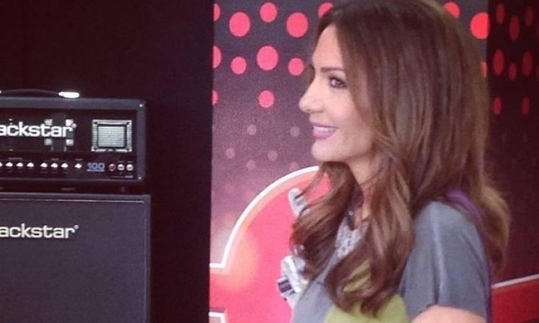 Η Δέσποινα Βανδή στις πρόβες για το The Voice!