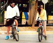 Χολίδης-Μουστάκα: Βόλτα με τα ποδήλατά τους (φωτό)