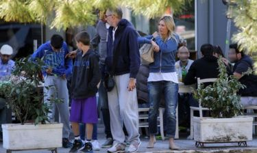 Τόμιτς-Βούκσεβιτς: Βόλτα με τις οικογένειές τους
