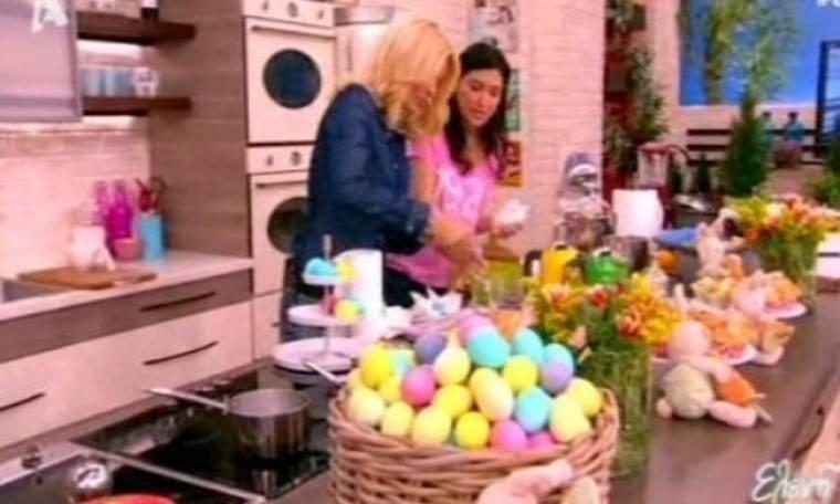 Η Ελένη έβαψε τα Πασχαλινά της αυγά… παστέλ! Δείτε πως θα τα φτιάξετε κι εσείς!