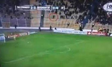 Βίντεο: Φάντασμα (;) στην εξέδρα την ώρα ενός αγώνα ποδοσφαίρου!