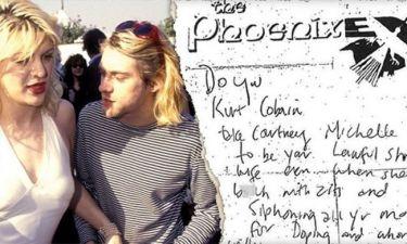 Το υποτιμητικό σημείωμα του Curt Cobain για την Courtney Love