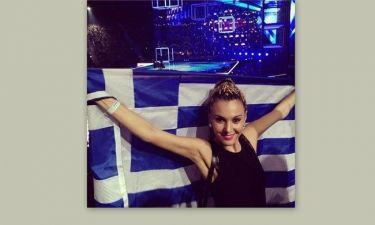 Eurovision 2014: Η Τάμτα με την ελληνική σημαία στο στάδιο της Κοπεγχάγης