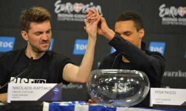 Eurovision 2014: Oι πανηγυρισμοί και τα πρώτα λόγια των Freaky Fortune και του Riskykidd