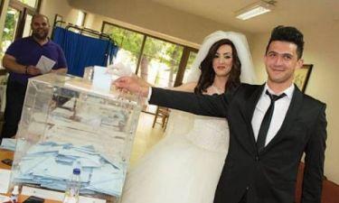 Εκλογές 2014: Νεόνυμφοι άφησαν το γάμο για να… ψηφίσουν!