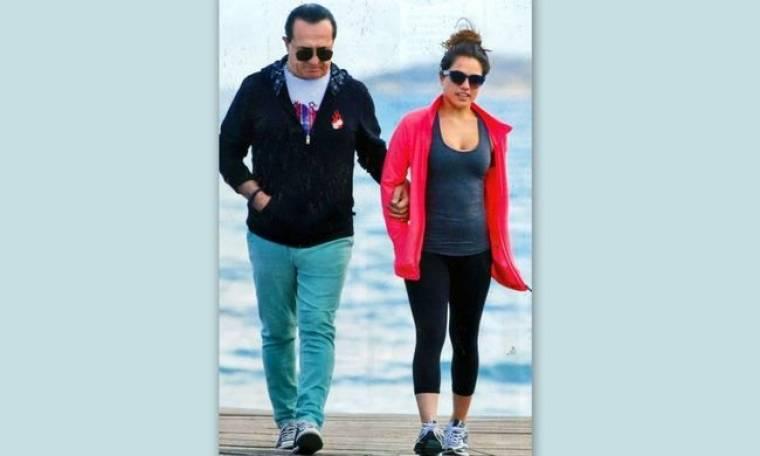 Λευτέρης Πανταζής: Βόλτα με την κόρη του!